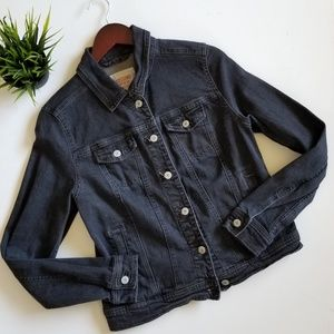 Mossimo Denim Jean Jacket Button Up Gray Wash